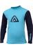 Aclima WarmWool Crew Neck Shirt Children River Blue/Peacoat